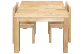 Timber Table and Chairs Set