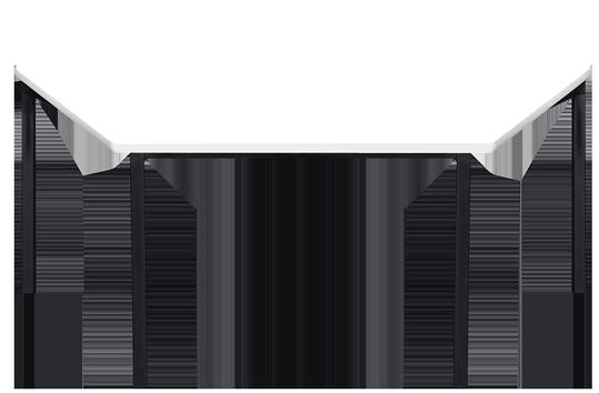 Melamine Trapezoidal Table