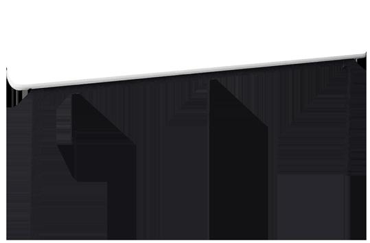 Melamine Half Round Table
