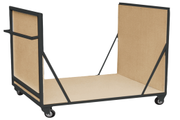 Black frame block trolley