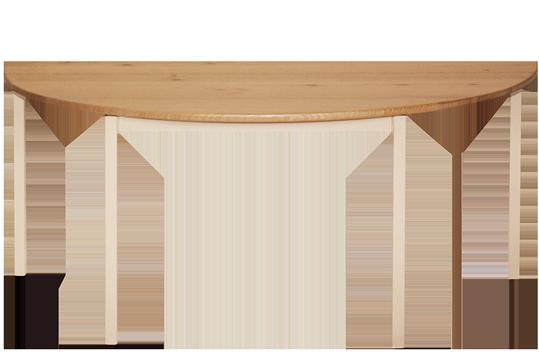 Hardwood Half Round Table