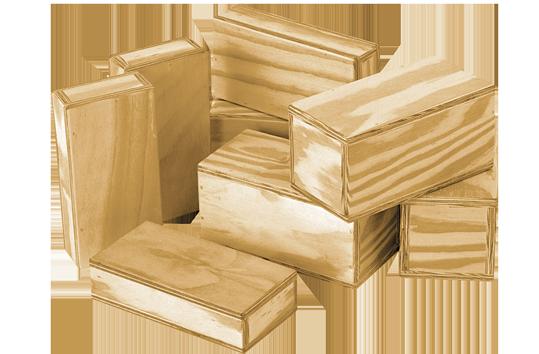 Hollow Wooden Blocks