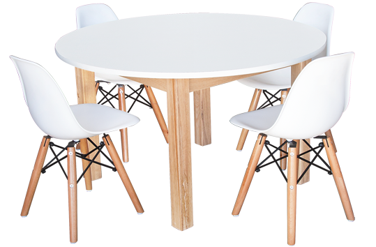 Round Combination Table and Chair Set