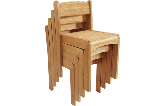 Oak Stackable Chair