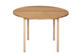 Hardwood Round Table: 900mm