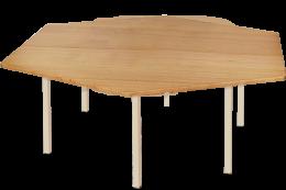 Hardwood Hexagonal Table