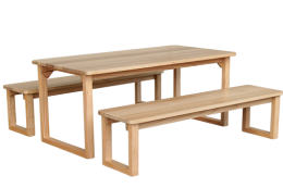 U-Frame Table and Benches