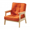 Orange Nordic Child Armchair
