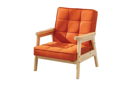 Orange Nordic Child Armchair