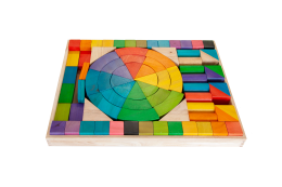 JUMOBO RAINBOW BLOCKS WOODEN TOYS