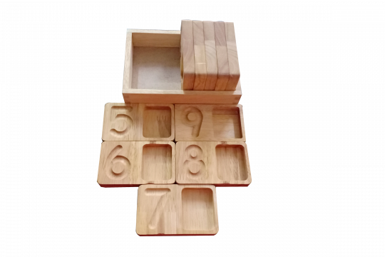 Wooden Counting and Writing tray
