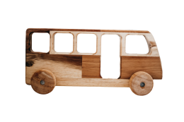 Wooden Toy Natural Bus