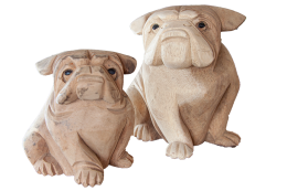 Wooden Bulldog Decor