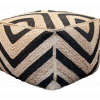 Jute Ottoman Natural and Black