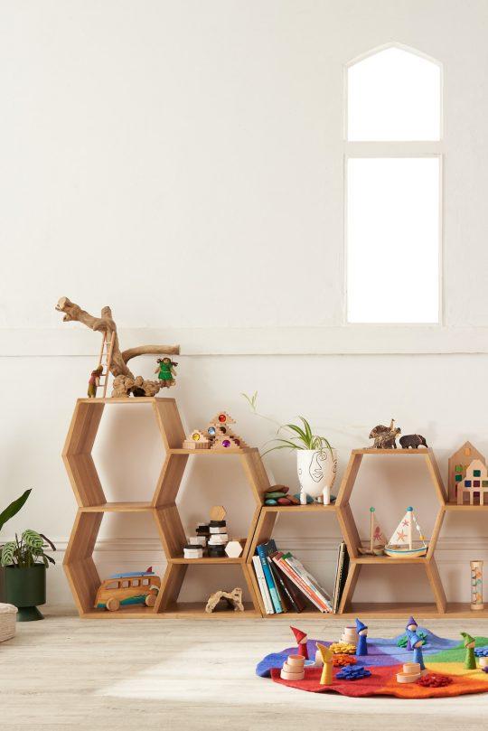Honeycomb Display Shelf
