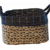 Plainted Black Basket Decor