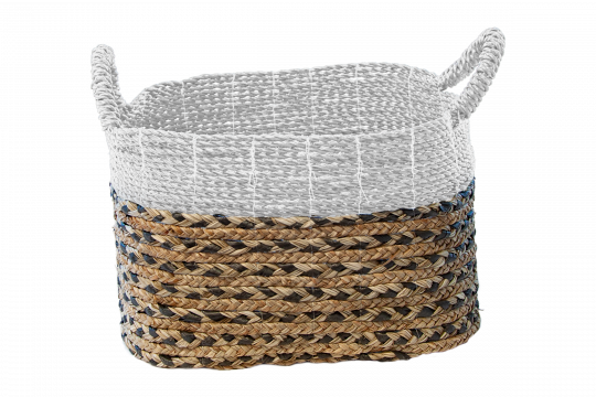 Plainted Basket White Decor