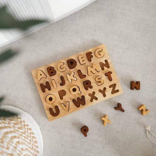 wooden letter puzzle