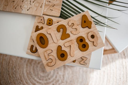 wooden number puzzle kids