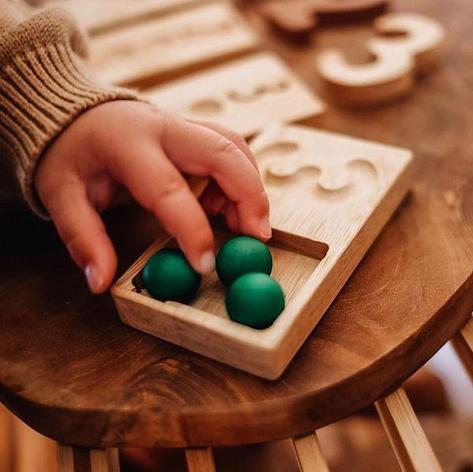 wooden counting trays