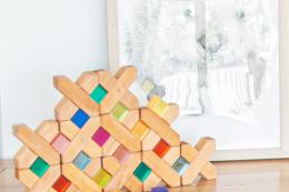 natural x shape blocks