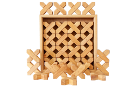 natural x shape blocks