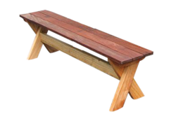 outdoor x frame bench