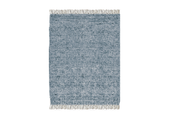 Blue Wool Durrie Rug