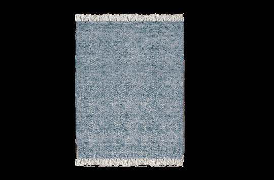 Blue Wool Durrie Rug