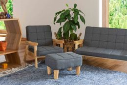 Grey Nordic Chair Sofa