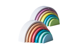 rainbow stacking set