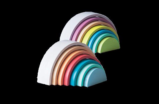 rainbow stacking set