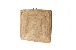 jute floor cushion natural