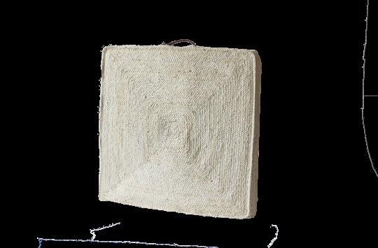 jute floor cushions white