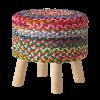mutlicoloured jute stool