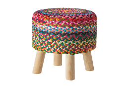 mutlicoloured jute stool