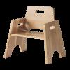stackable toddler chair oak