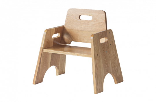 stackable toddler chair oak