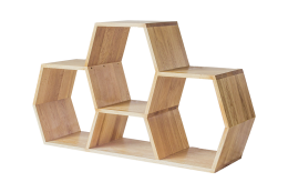 low honeycomb bookshelf