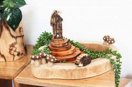 wooden mushroom ring