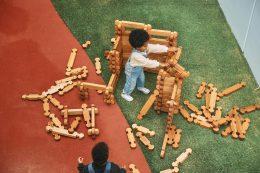 Stacking Wooden Blocks