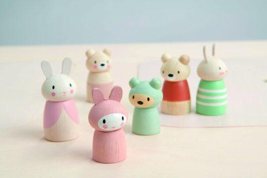 wooden toys bear family