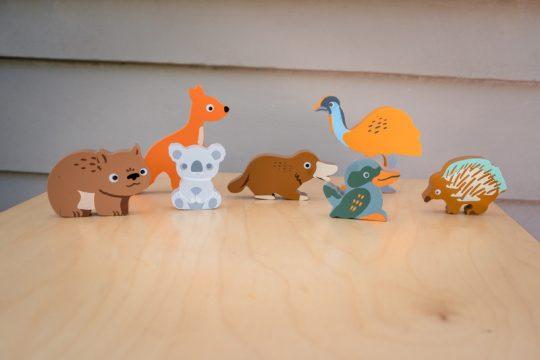 Australian animals wooden toy puzzle