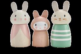 children's wooden toys bunny family