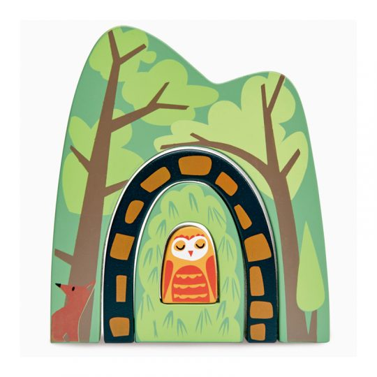 forest wooden toy stacker