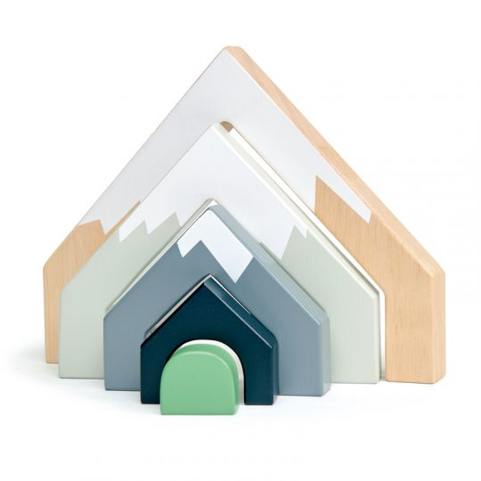 mountains wooden toy stacker