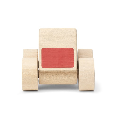 wooden triangle car