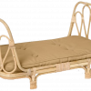 children's rattan doll bed clay