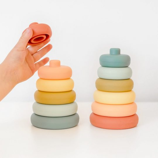 Silicone Stacker Tower Blueberry