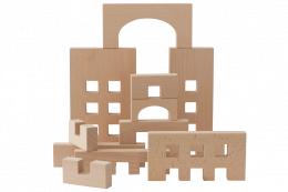 WOODEN TOYS Fortress Building Set